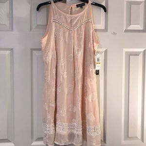 SEQUIN HEARTS cream lace dress